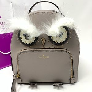 Kate spade owl Tomi star bright cityscape backpack